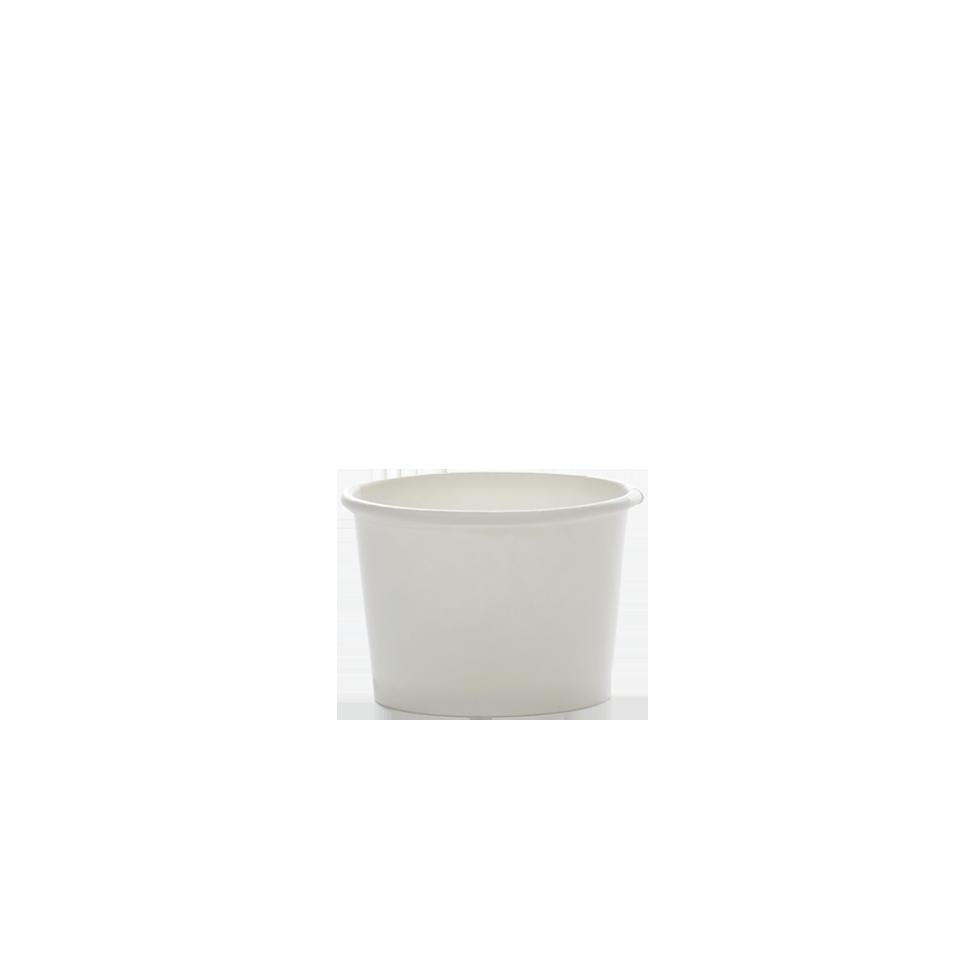 """גביע גלידה לבן נייר 100 סמ""""ק"""