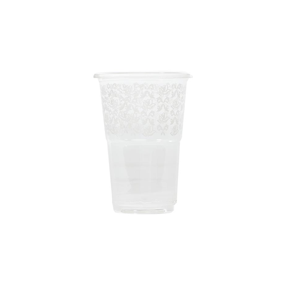 כוס 9 הרמוניה עיטור לבן PET