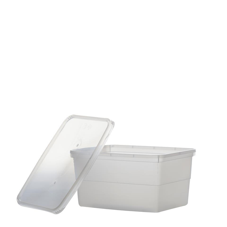 """קופסא מלבן שקוף 2 ק""""ג"""