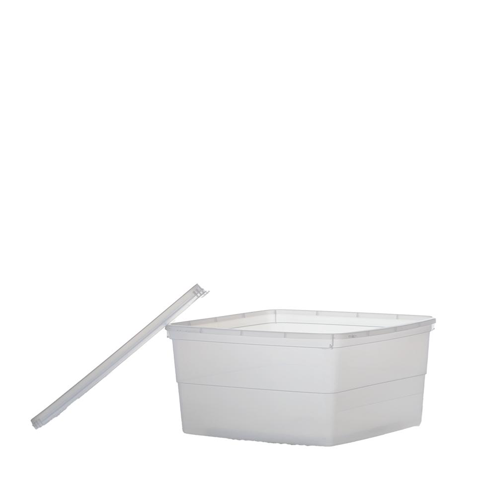 """קופסא מלבן שקוף 3 ק""""ג"""